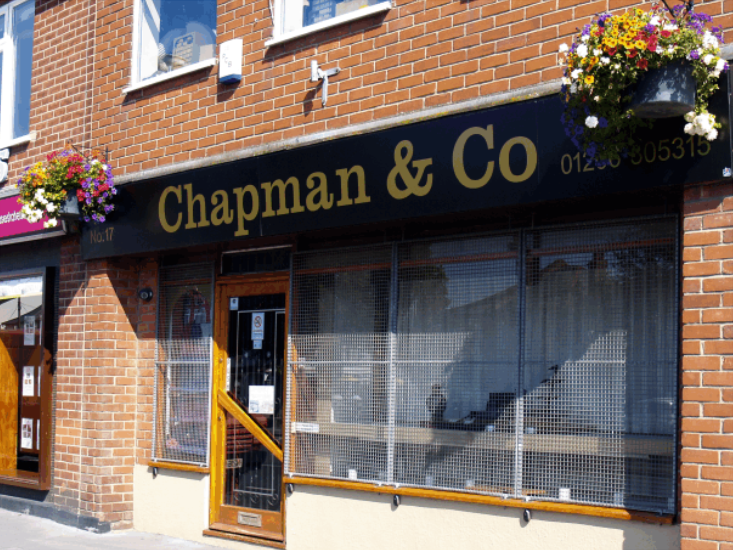 Link to detailed description page for shop sign for Chapman Jewellers in Brightlingsea
